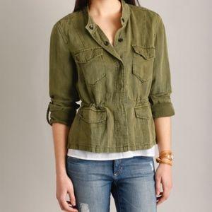 Sanctuary Olive Green Drawstring Safari Jacket M